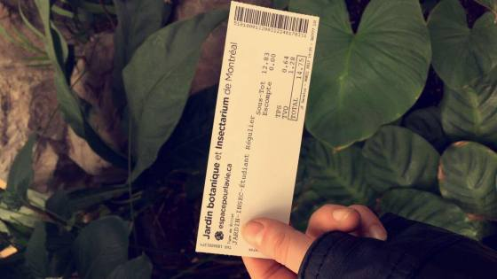 bontanical garden ticket